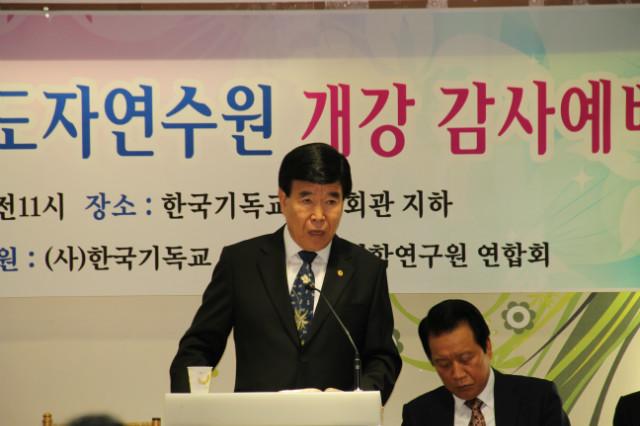 ▲설교말씀을 전하는 김노아 목사