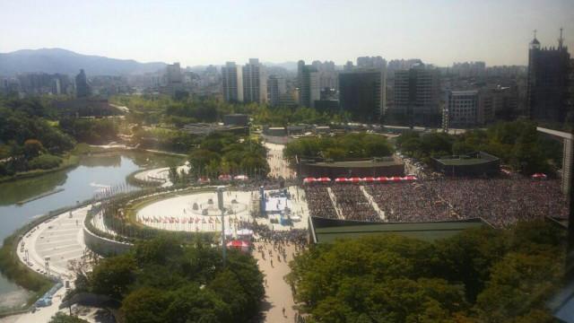 ▲올림픽공원 평화의 광장 일대가 신천지인들에 의해 불법 점거 당했다. ⓒ익명의 제보자