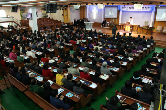 ▲3월 16일 세광중앙교회에서는 지난 달에 이어 신천지 대책 특별 말씀집회가 개최됐다. ⓒ세광중앙교회 제공